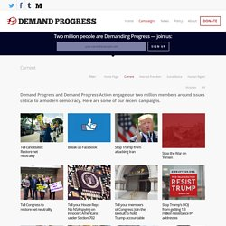Campaigns - Demand Progress