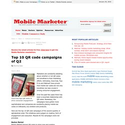 Top 10 QR code campaigns of Q2 - Mobile Marketer - Software and technology