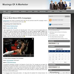 Top 5: Best Street BTL-Campaigns | Musings Of A Marketer