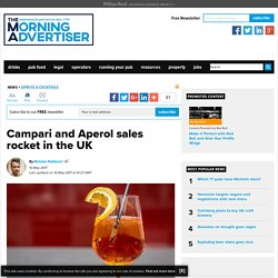 Campari and Aperol sales rocket in the UK