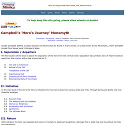 Campbell's 'Hero's Journey' Monomyth