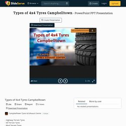 Types of 4x4 Tyres Campbelltown