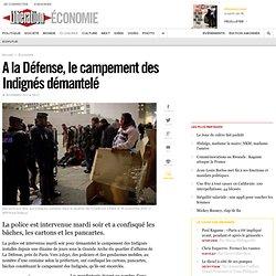 A la Défense, le campement des Indignés démantelé