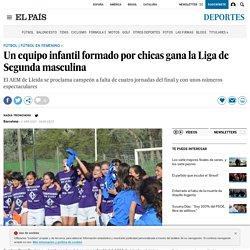 Campeonas Segunda Masculina: Un equipo infantil formado por chicas gana la Liga de Segunda masculina