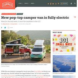 Pop top camper van by Nissan is fully electric