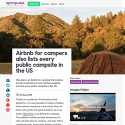 Airbnb for campers also lists every public campsite in the US