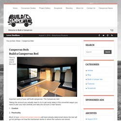 Campervan Beds - Build A Campervan