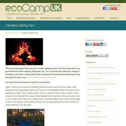 Campfire Lighting Tips