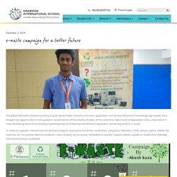 e-waste campiagn - Best IB School in Hyderabad