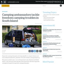 Camping ambassadors tackle freedom camping troubles in South Island