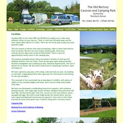 Tamar Valley camping and caravan site at Gulworthy near Tavistock