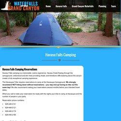 Havasu Falls Camping - Hike, Camp and Enjoy Havasupai Waterfalls