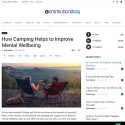 How Camping Helps to Improve Mental Wellbeing