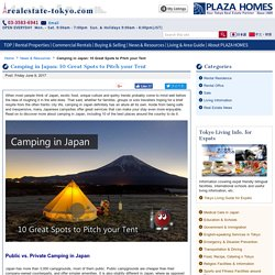 Camping in Japan: 10 Great Spots to Pitch your Tent