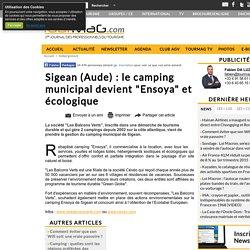 """Sigean (Aude) : le camping municipal devient """"Ensoya"""" et écologique"""