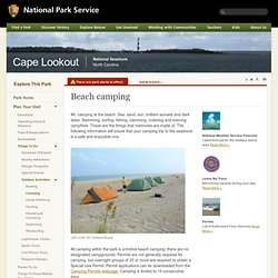 Cape Lookout National Seashore - Beach camping (U.S. National Park Service)