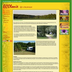 Camping nature d'ECOlonie
