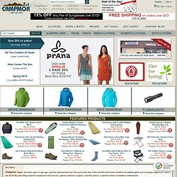 Camping Gear & Outdoor Gear - Outerwear & Outdoor Clothing from Campmor.com