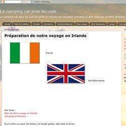 Préparation de notre voyage en Irlande