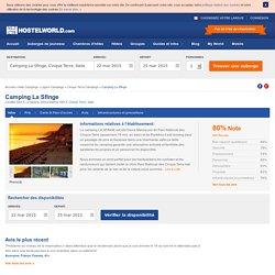 Camping La Sfinge Cinque Terre - Réservez une Chambre sur Hostelworld.com