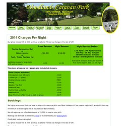 Camping and Touring Prices at Woodlands Caravan Park, Devil's Bridge