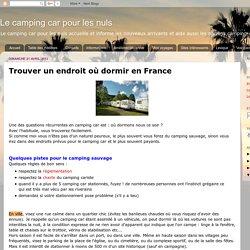 Trouver un endroit où dormir en France