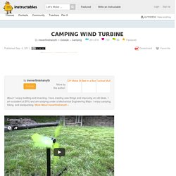 Camping Wind Turbine