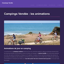 Campings vendée : des animations de pro