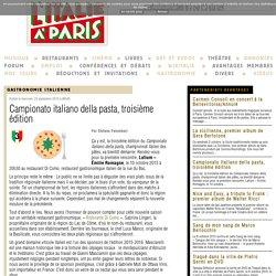 Campionato italiano della pasta, troisième édition