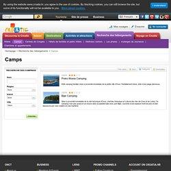 Campings Croatie