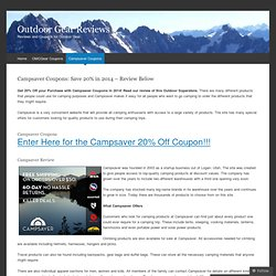 Campsaver Coupons: Save 20% in 2014 – Review Below