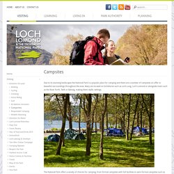 Campsites - Loch Lomond and The Trossachs National Park