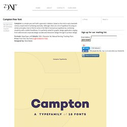 Campton free font - Fontfabric™
