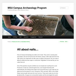 MSU Campus Archaeology Program