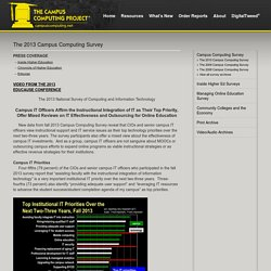 The 2013 Campus Computing Survey