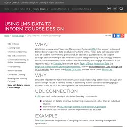 UDL On Campus: Using LMS Data to Inform Course Design