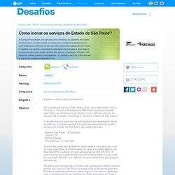 Como inovar os serviços do Estado de São Paulo?, $20000.0 en premios