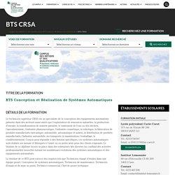 BTS CRSA - Campus des Métiers et des Qualifications