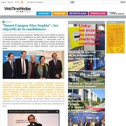 """""""Smart Campus Nice Sophia"""" : les objectifs de la candidature"""