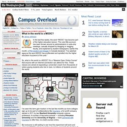 What in the world is a MOOC? - Campus Overload
