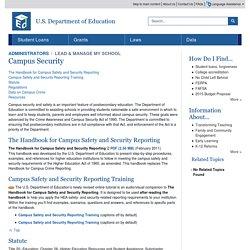 Håndbog om sikkerhed på uddannelsesinsitutioner i USA - Campus Security