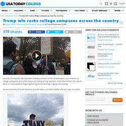 Trump win rocks college campuses across the country
