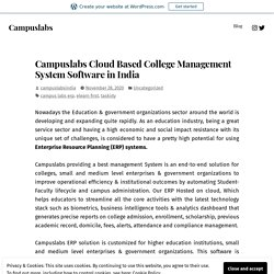 Campuslabs Cloud Based College Management System Software in India – Campuslabs