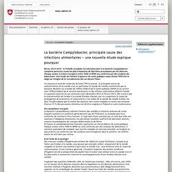 CONFEDERATION SUISSE 03/07/14 La bactérie Campylobacter, principale cause des infections alimentaires – une nouvelle étude explique pourquoi