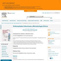 Enferm Infecc Microbiol Clin. 2012;30:243-5. A Campylobacter outbreak in a Barcelona school