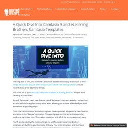 A Quick Dive Into Camtasia 9 and eLearning Brothers Camtasia Templates
