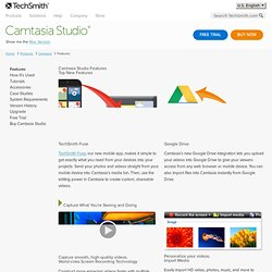 Camtasia Studio, Screen Recorder Software, Product Tour