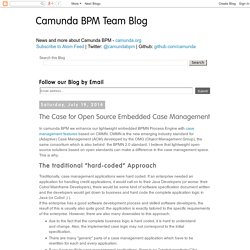 BPM Team Blog: The Case for Open Source Embedded Case Management
