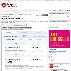 Des Camus inédits - Le Journal des Arts - n° 328 - 25 juin 2010