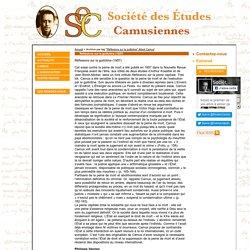 Société des Études camusiennes » «Réflexionx sur la guillotine» Albert Camus